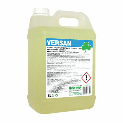NEW! Clover Versan Broad Spectrum Surface Disinfectant 5 Litre 260