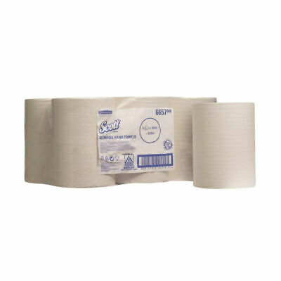 NEW! Scott 1-Ply Slimroll Hand Towel Roll White Pack of 6 6657
