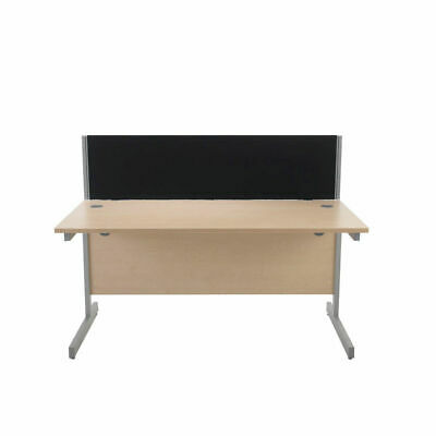 NEW! Jemini Black 1600mm Straight Desk Screen Each screen comes with a pair of c