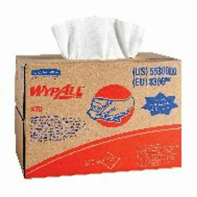 NEW! Wypall X70 Cloths Brag Box 1-Ply White 200 Sheets 8386