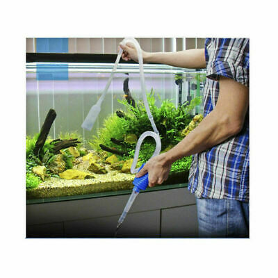 Aquarium Fish Tank Pump Filter Clean Siphon Vacuum Water Change Gravel Cleaner