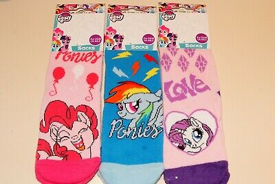 Girls My Little Pony Slipper Gripper Socks 3 Sizes 3 Designs New