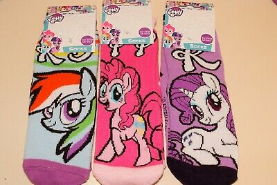 Girls My Little Pony Slipper Gripper Socks 3 Sizes 3 Designs New B