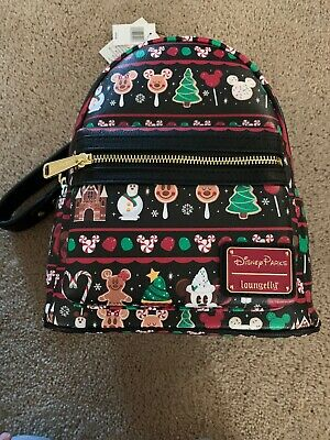 New Release! Disney Parks Holiday Snacks Christmas Loungefly Backpack 2019