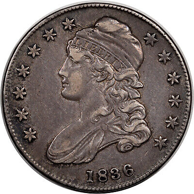1836 Capped Bust Half Dollar - O-110 R-3  -  High Grade Circulated Example
