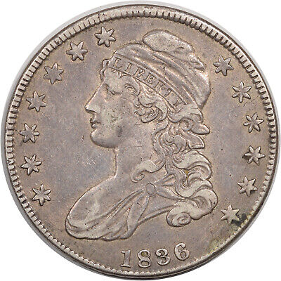 1836 Capped Bust Half Dollar - O-118 R-3  -  High Grade Example
