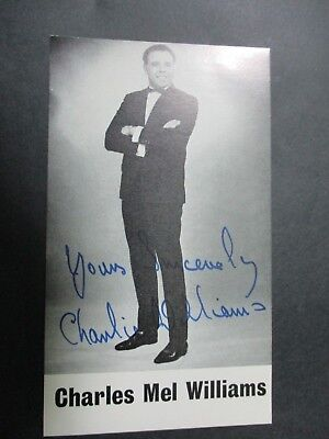 Charlie Williams - Footballer And Comedian - Facsimile Signed Photo