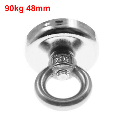 48mm*46mm 90KG Recovery Magnet Strong Sea Fishing Diving Treasure Hunting UK
