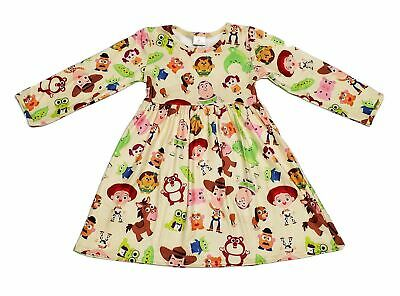 Toy Story Inspired Long Sleeve Milk Silk Dress
