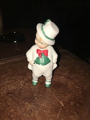 "Antique GERMANY?  NODDER Little Boy Bisque Stands Alone 3"" Tall Adorable"