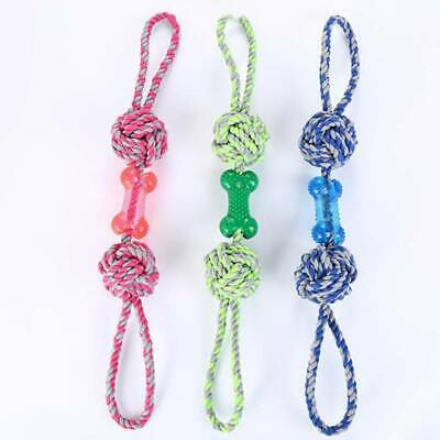 Braided Cotton Rope Pet Dog Interactive Toy For Dogs Chews Bite Training Play LD