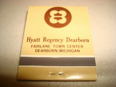 Rare Vintage Matches Hyatt Regency Dearborn Fairlane Town Center Mich Original!