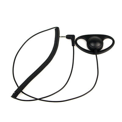 Listen Only D-Shape Earpieces For Radio Microphone Parts W / A 2.5mm Mono Jack