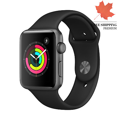 Apple Watch Series 3 GPS 42mm - Space Gray Aluminium Case with Black Sport Band