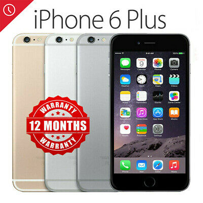 Apple iPhone 6 Plus 16GB 64GB 128GB Unlocked SIM Free Smartphone US VERSION