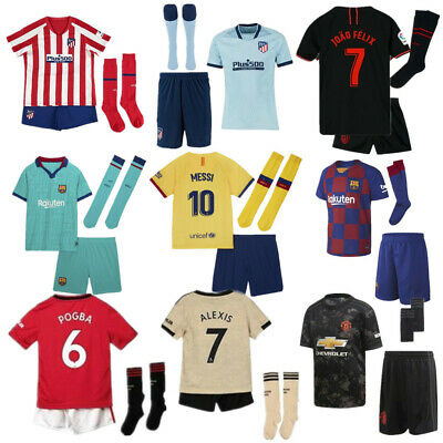 19 20 Kids Football Full Kits Youth Uniforms Boys Kits Soccer jerseys