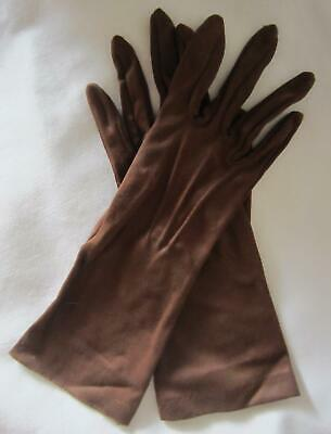 Vintage Ladies DENTS GLOVES - Chocolate Brown - Wrist Length - Size 7
