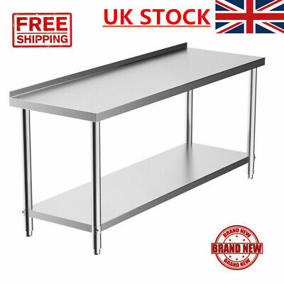 Commercial 4/5FT Stainless Steel Work Prep Table With BACKSPLASH Kitchen BEST