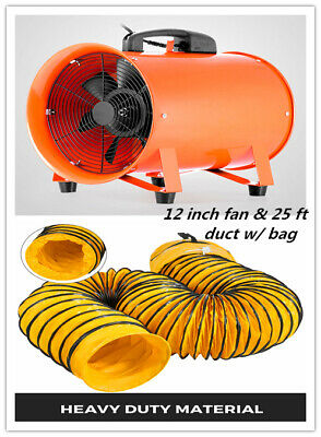 12'' 8M Extractor Fan Blower Portable Duct Hose w/bag Fume Utility Ventilation