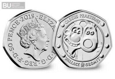 2019 Wallace And Gromit 50P Fifty Pence 30Th Anniversary Certified Bu