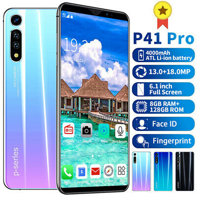P41 Pro 8+128GB 6.1'' Mobile Phone Face GSM 2 SIM Screen Unlock Android 9.1 2019