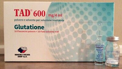 GLUTATIONE TAD600 or equivalent 10vials from Italian pharmacy
