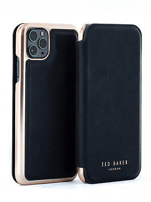 Ted Baker® Womens Luxury Mirror Folio Black Case for iPhone 11 Pro Max - SHARITA