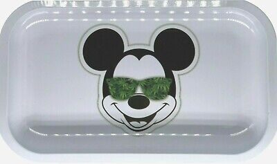 "Premium Rolling Tray ""Mickey Glasses"" 6.25"" x 11"""