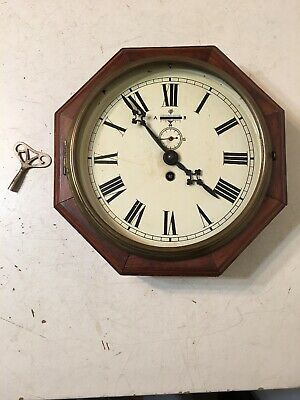 Rare Antique Japy Freres French Marine Octagon Wall Clock Platform Escapement