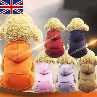 Pet Dog Warm Hoodie Sweaters Small Puppy Cat Coat Dress with Pocket Party Jumper
