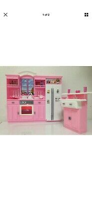 My Fancy Life Barbie Size Dollhouse Furniture Kitchen Play Set