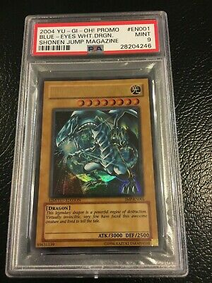 Yu-Gi-Oh! Shonen Jump BLUE-EYES WHITE DRAGON Ultra Rare JMP-001 English PSA 9