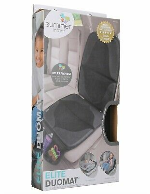 Summer ELITE DuoMat Car Seat Protector Black Premium Waterproof Seat Cover Pad