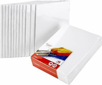 Canvas Panels 12 Pack- 8 x10'' Super Value Pack - Artist Canvas Boards for Paint