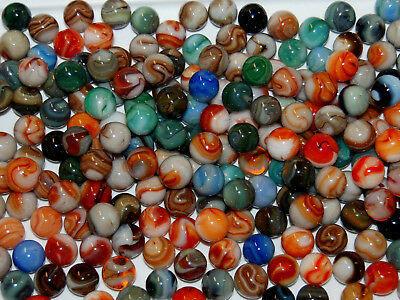 Marbles: 100 Premium  Mixed Jabo Classic Marbles  Special G-20