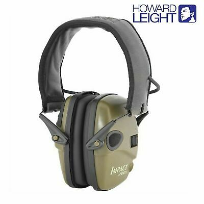 NEW Howard Leight R-01526 Impact Sport Electric Earmuff Olive Drab Green AUS