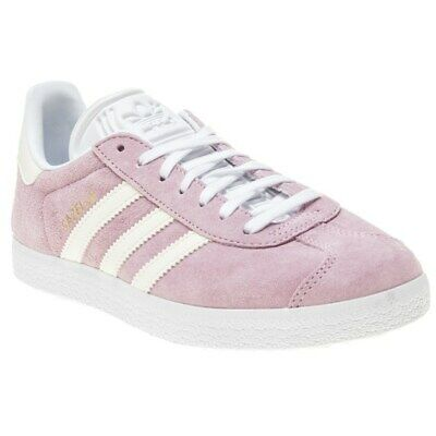 New Girls adidas Pink Gazelle Suede Trainers Retro Lace Up