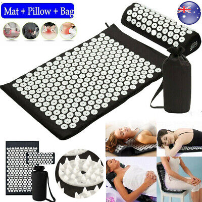 Massage Acupressure Mat Yoga Shakti Sit Lying Mats Pain Release Stress Relief AU