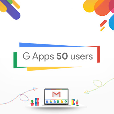 Domain name with 50users for G Suite or Google Apps Standard Edition