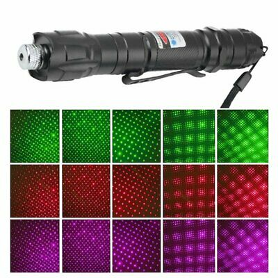 Powerful 1mw 009 Green Laser Pointer Pen Light+18650 Battery+Charger