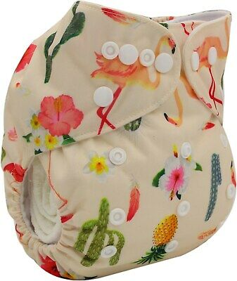 New Baby Pocket Cloth Diaper Nappy Reusable Washable Flamingo Cactus For Girls