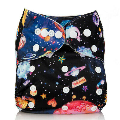 New Baby Pocket Cloth Diaper Nappy Reusable Washable Solar System Planet