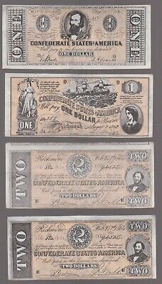1965 A&Bc Gum Civil War News Banknotes. Complete Your Set, Select A Note .