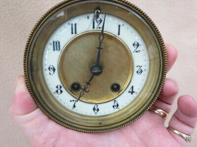 Antique Hac Striking Clock Movement, Hands, Dial, Bezel, And Glass