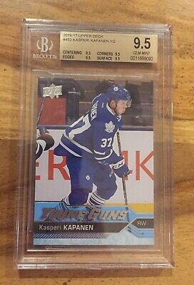 2016-17 UD Hockey Series 2 Young Guns #452 Kasperi Kapanen BGS 9.5