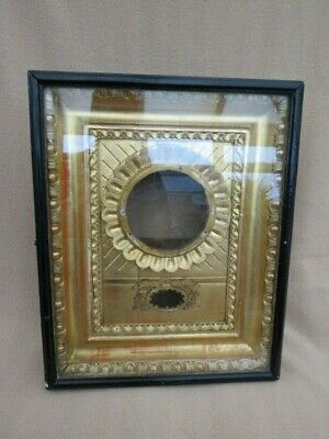 Antique Gilt Carved Wood Glazed Wall Clock Case