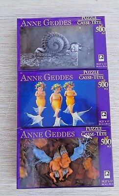 Anne Geddes Jigsaw Puzzle, Snail Baby, Mermaid Babies, Fairy Babies, 500 PC New