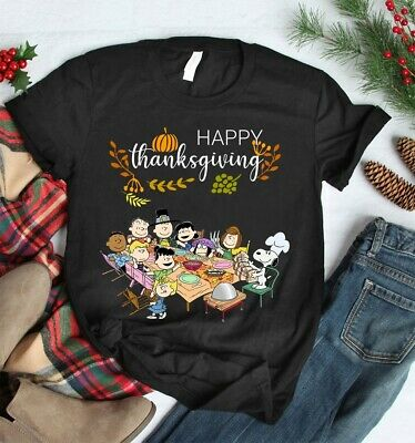 Peanuts and Snoopy with friends Thanksgiving T Shirt