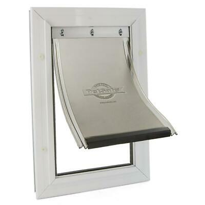 Pet Door Extra large Freedom Aluminum  Dog Easy Install Weather-Resistant Seal