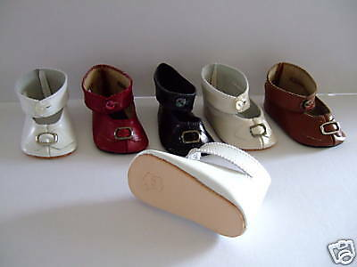 Doll shoes Leather shoes Size 13 for old or modern doll G.BRAVOT 9 cm
